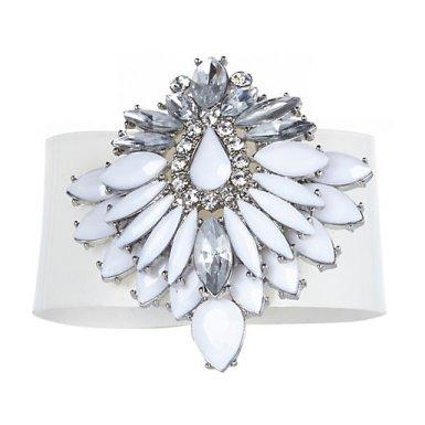 River Island €16 - White Gem Stone Jelly Bracelet http://bit.ly/1khnecx