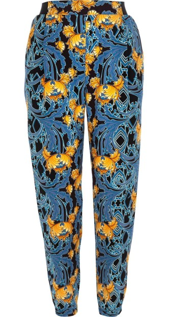 River Island €43 - Blue baroque art print joggers http://bit.ly/1k5Wi4W
