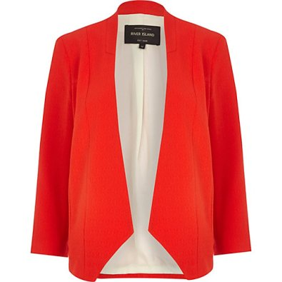 River Island €65 - Red Open Front Blazer http://bit.ly/1mMQ3h9