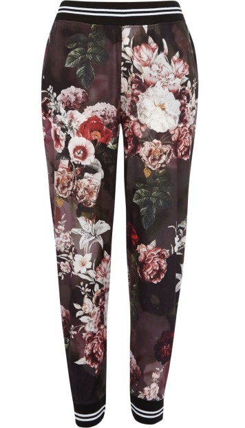 River Island €30 - Black Floral Joggers http://bit.ly/1toZtb5