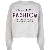 River Island €33 - Full Time Fashion Blogger Sweatshirt http://bit.ly/1rNikfs