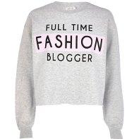 River Island €33 - Full Time Fashion Blogger Sweatshirt http://bit.ly/1rNikfs