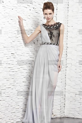 Fanny Crown €459 - Smart Lace Bateau Silver Party Dress http://bit.ly/1zhD019