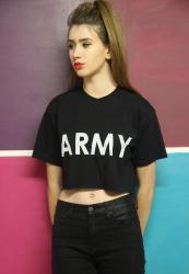 Tola Vintage €10.94 - ARMY Retro Crop Top http://bit.ly/1qAJdUl