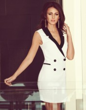 Michelle Keegan €69 - Tux Dress http://bit.ly/1mb0krw