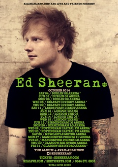 Ed Sheeran 2014 Tour - http://bit.ly/1mB07yv