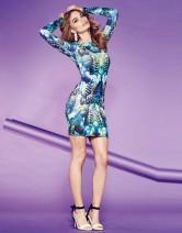 Lipsy €28.50 - Long Sleeve Printed Bodycon Dress http://bit.ly/1nVYbB7