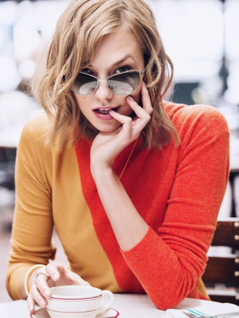 Karlie Kloss X Warby Parker - wearing Marple in Heirloom Silver