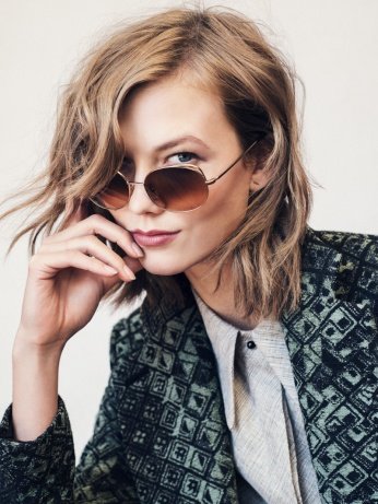 Karlie Kloss X Warby Parker - wearing Clara in Heirloom Gold