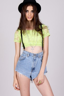 Yayer €7.60 - Lime Time Crop http://bit.ly/1qAJiqU