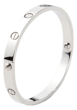Glitz N Pieces €16.50 - Silver Love Bangle http://bit.ly/1jWdLaB