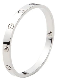 Glitz N Pieces €16.50 - Silver Love Bangle http://bit.ly/1jWdLaB