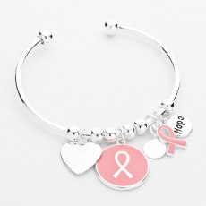Glitz N Pieces €13.50 - Pink Ribbon Cuff Charm http://bit.ly/1k5V1uV