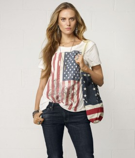 Ralph Lauren 27.62 - Draped Anchored Flag Tee http://bit.ly/1z9PdVw