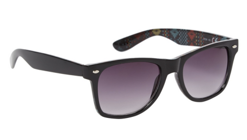 Red Herring €14.40 - Black plastic pixilated inner print sunglasses http://bit.ly/1mNnpN3