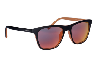 Police €108 - Orange reflective square sunglasses http://bit.ly/1rRKy6n
