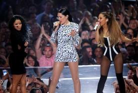 (L-R) Nicki Minaj, Jessie J, Ariana Grande