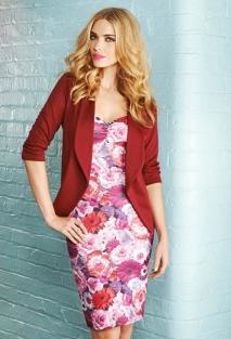 Quiz €29.89 - Purple Floral Print Midi Dress http://bit.ly/1oT7stZ