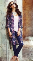 Quiz €35.09 - Navy And Pink Floral Long Kimono http://bit.ly/1on4dMB