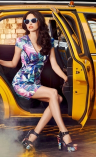 Quiz €35.09 - Green And Pink Tropical Print Dress http://bit.ly/V9DMNz
