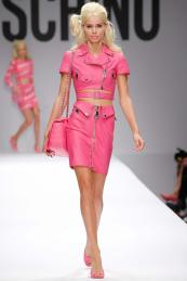 Moschino €2,024 - Leather Crop Jacket http://bit.ly/1utvmPD €1,607 - Leather Skirt http://bit.ly/1x132VR