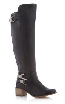 H! by Henry Holland @ Debenhams €88.50 - Designer black high leg buckle boots http://bit.ly/1rxf1qo