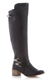 H! by Henry Holland @ Debenhams €88.50 - Designer black high leg buckle boots http://bit.ly/1rxf1qo
