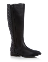 Floozie @ Debenhams €88.50 - Black quilted high leg boots http://bit.ly/1vqK0Hh