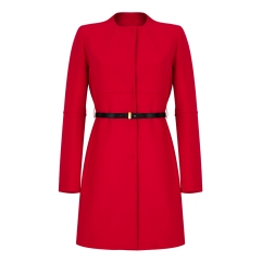 Marella @ Arnotts €370 - Faida Belted Coat Red http://bit.ly/1u7en3V
