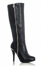 Quiz @ Debenhams €59 - Quilt High Leg Heel Boots http://bit.ly/1uxu7zQ