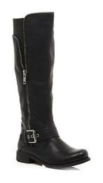River Island €70 - Zip Detail Knee High Boots http://bit.ly/ZlKrXL