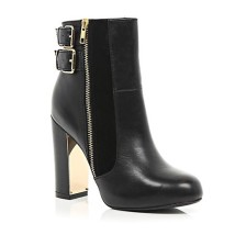 River Island €85 - Metal Trim Block Ankle Boot http://bit.ly/YDsbbv