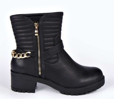 Boohoo €54.99 - Jane Quilted Biker Boots http://bit.ly/1sKS5YD