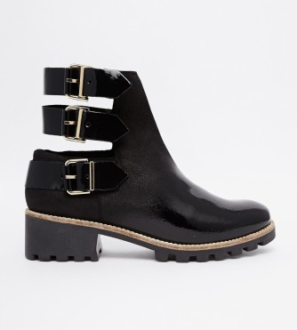 Miista @ ASOS €285.78 - Cecilia Buckle Cut Out Flat Ankle Boots http://bit.ly/1plYVMZ