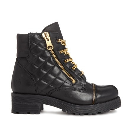 Bronx @ ASOS €99.53 - Leather Quilted Chain Detail Boots http://bit.ly/1ywScta