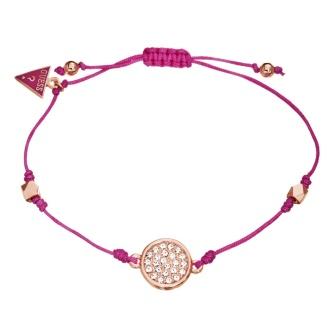 Guess €32.50 - Bright pink disc slip knot bracelet http://bit.ly/1nWYzBO