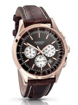 Sekonda €110.05 - Chronograph Watch Brown Leather Black Dial http://bit.ly/1nMEXQJ