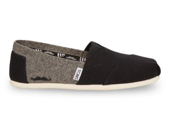 Toms €53 - Grey & Black Coated Canvas Herringbone Women's Classics http://bit.ly/1q7UaHP