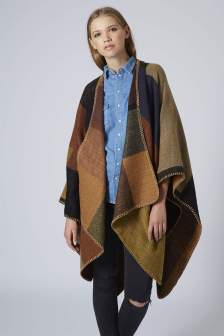 Topshop €44 - Blanket Stitch Cape http://bit.ly/1tF37ip
