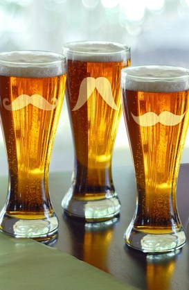 Cathy's Concepts €37 - Mustache Pilsner Glasses Set of 4 http://bit.ly/107CSUv