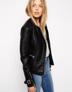 ASOS €78.57 - Collarless Textured Biker Jacket http://bit.ly/1ESSCuL
