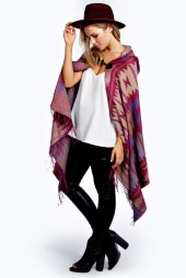 Boohoo €25 - Lexie Aztec Printed Hooded Cape http://bit.ly/1yS7R5G