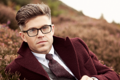 DX x LC €840 - Burgundy Brushed Wool Overcoat