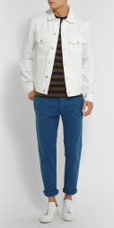 Officine Generale @ Mr Porter €185 - Slim Fit Cotton Twill Trousers http://bit.ly/1dSqxuu