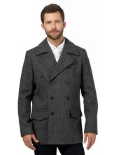 Hammond & Co. by Patrick Grant €202 - Grey wool blend pea coat http://bit.ly/1KtxfDV