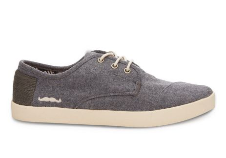 Toms €70 - Grey Wool Men's Paseos http://bit.ly/1wMTlJp