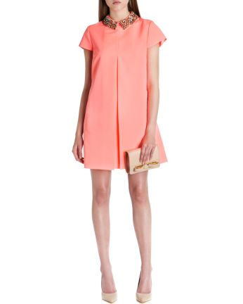 Ted Baker €235 - Enid Embellished collar dress http://bit.ly/1vW1ZEU
