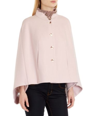 Ted Baker €340 - Hollisi Embellished collar cape http://bit.ly/ZCPDFT