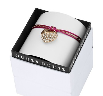 Guess €49 - My Heart in a Box Pink Cord Crush Bracelet http://bit.ly/ZoL0iU