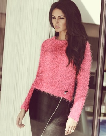 Lipsy €44.60 - Michelle Keegan Eyelash Knit Crop Jumper http://bit.ly/1pWHTV2